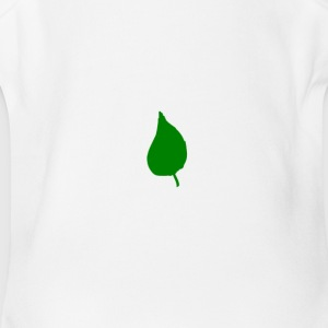 Simple leaf - Short Sleeve Baby Bodysuit