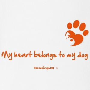 RescueDogs101 My heart belongs to my dog - Short Sleeve Baby Bodysuit
