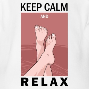 KEEP CALM AND RELAX - Short Sleeve Baby Bodysuit