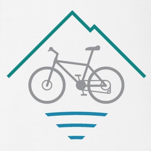 Outdoor Mountain Bike Logo - Organic Short Sleeve Baby Bodysuit