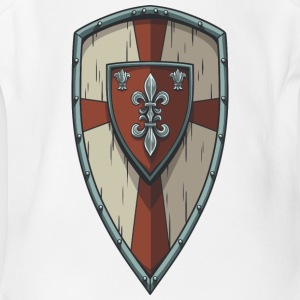 wood_king_shield - Short Sleeve Baby Bodysuit
