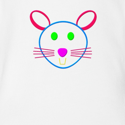 Coloured mouse - Organic Short Sleeve Baby Bodysuit