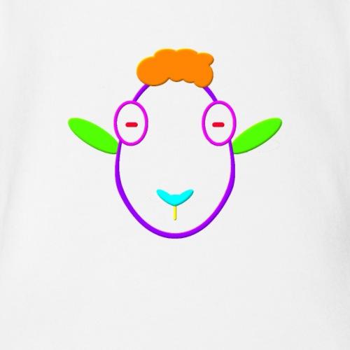 Coloured sheep - Organic Short Sleeve Baby Bodysuit