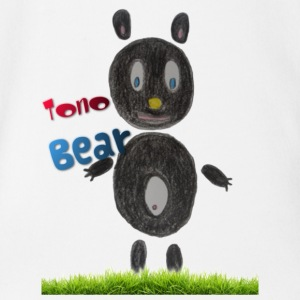 Tono bear - Short Sleeve Baby Bodysuit