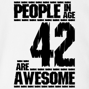 PEOPLE IN AGE 42 ARE AWESOME - Short Sleeve Baby Bodysuit