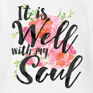 It is Well With My Soul - Plus Size - Short Sleeve Baby Bodysuit