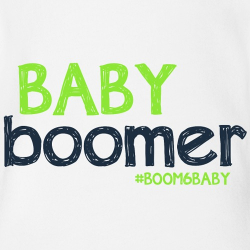 BoomBabyGraphicB6B - Organic Short Sleeve Baby Bodysuit