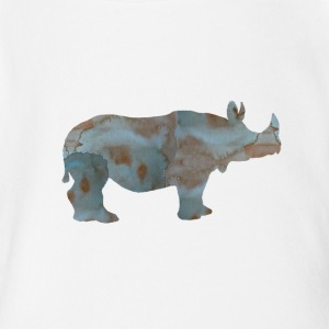 Rhino - Short Sleeve Baby Bodysuit