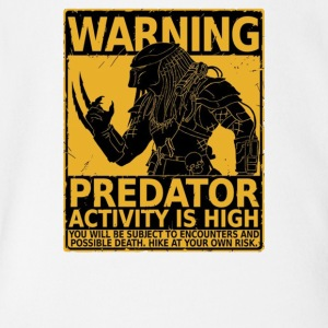 Predator activity is high - Short Sleeve Baby Bodysuit