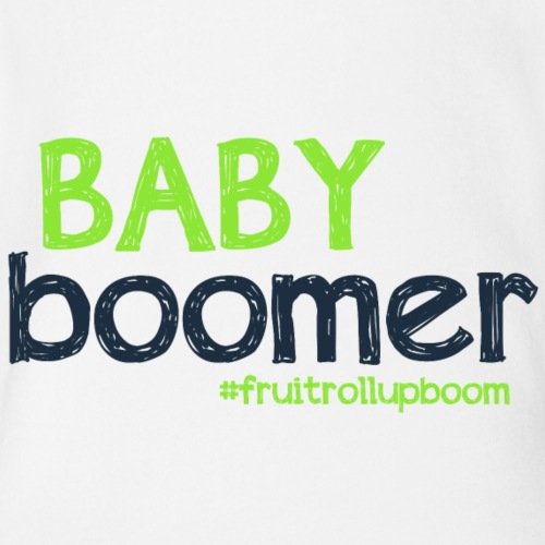 BoomBabyGraphicFRU - Organic Short Sleeve Baby Bodysuit