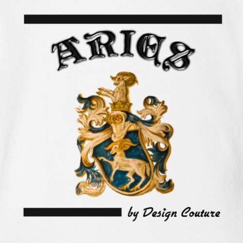 ARIES BLACK - Organic Short Sleeve Baby Bodysuit