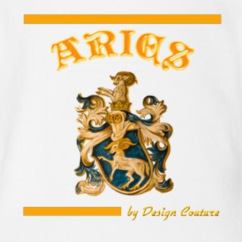 ARIES ORANGE - Organic Short Sleeve Baby Bodysuit