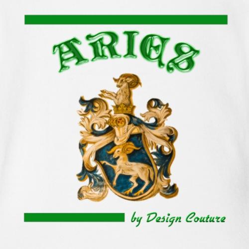 ARIES GREEN - Organic Short Sleeve Baby Bodysuit