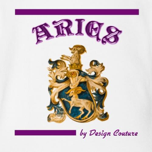ARIES PURPLE - Organic Short Sleeve Baby Bodysuit