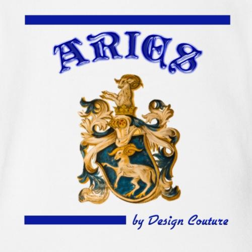 ARIES BLUE - Organic Short Sleeve Baby Bodysuit