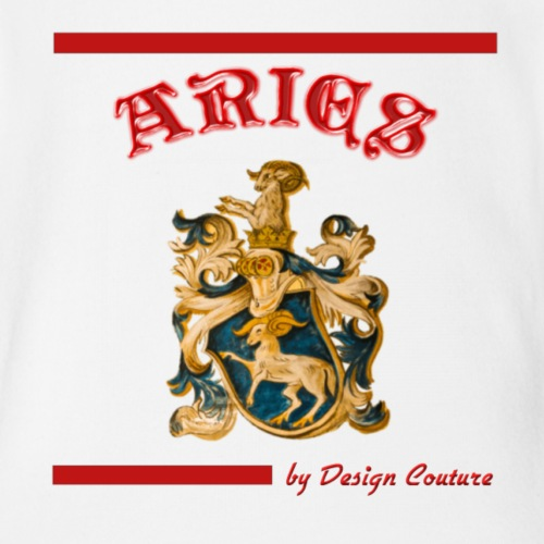 ARIES RED - Organic Short Sleeve Baby Bodysuit