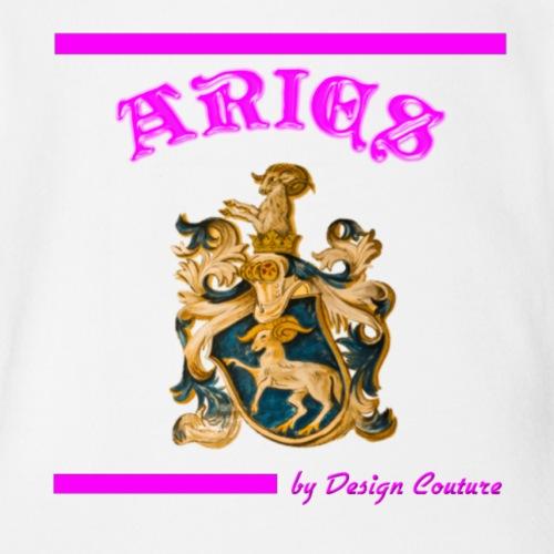 ARIES PINK - Organic Short Sleeve Baby Bodysuit