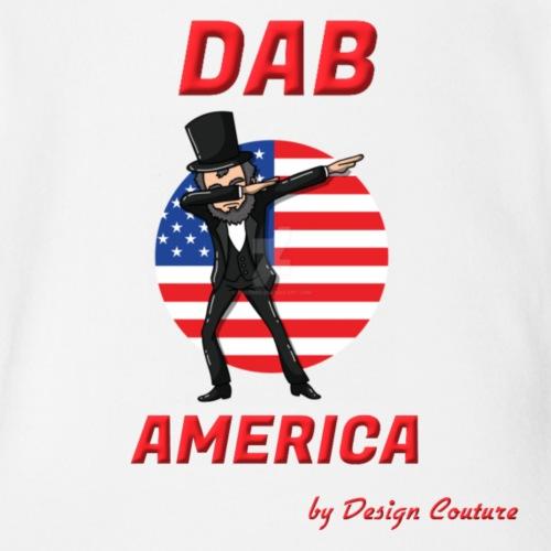 DAB AMERICA RED - Organic Short Sleeve Baby Bodysuit