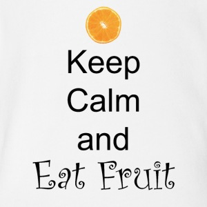Keep-Calm-and-Eat-Fruit - Short Sleeve Baby Bodysuit