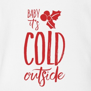 Baby, It's Cold Outside - Short Sleeve Baby Bodysuit