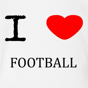 I LOVE FOOTBALL - Short Sleeve Baby Bodysuit