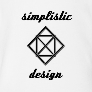 Simplistic Design Logo With Text - Short Sleeve Baby Bodysuit