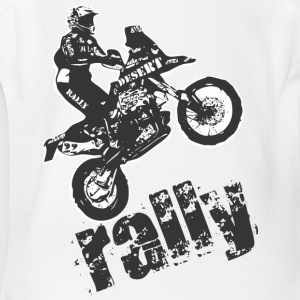 Desert Rally motorcycle - Short Sleeve Baby Bodysuit