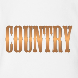 country copper - Short Sleeve Baby Bodysuit