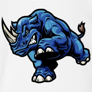 blue_rhinoceros - Short Sleeve Baby Bodysuit
