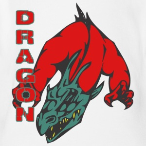 dragon_with_hands_red - Short Sleeve Baby Bodysuit