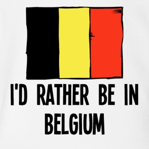 I'd Rather Be In Belgium - Short Sleeve Baby Bodysuit