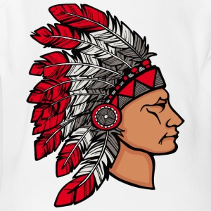 red_plumage_american_indian - Short Sleeve Baby Bodysuit