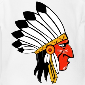 american_indian_chief - Short Sleeve Baby Bodysuit