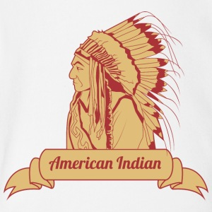 american_indian_brown - Short Sleeve Baby Bodysuit