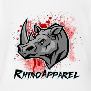 Rhino Blood Splatter - Short Sleeve Baby Bodysuit