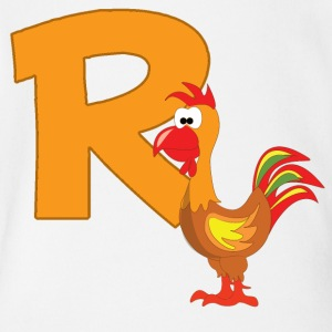 R Is For Rooster - Short Sleeve Baby Bodysuit