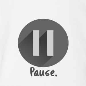 pause - Short Sleeve Baby Bodysuit