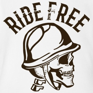 Rider free biker skull tatoo inscription - Short Sleeve Baby Bodysuit
