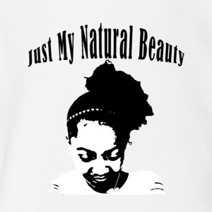 Just My Natural Beauty - Short Sleeve Baby Bodysuit