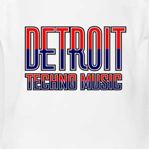 Detroit Techno Music - Short Sleeve Baby Bodysuit