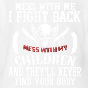 Don't Mess With My Children Tee Shirt - Short Sleeve Baby Bodysuit