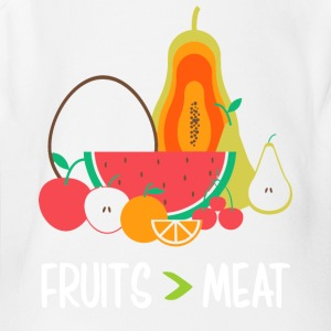 Fruits meat - Short Sleeve Baby Bodysuit