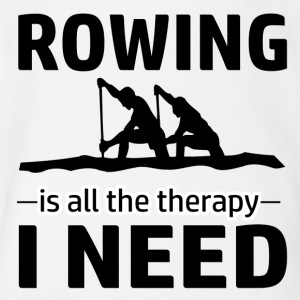 Rowing is my therapy - Short Sleeve Baby Bodysuit