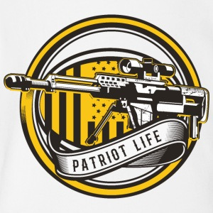 Sniper rifle gun sight patriot life inscription - Short Sleeve Baby Bodysuit