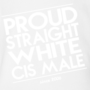 Proud Straight White Cis Male - Short Sleeve Baby Bodysuit