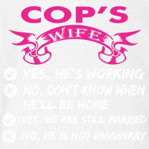 Cops Wife Yes Hes Working - Short Sleeve Baby Bodysuit
