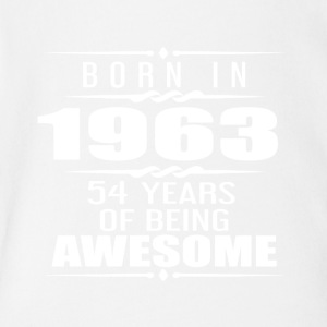 Born in 1963 54 Years of Being Awesome - Short Sleeve Baby Bodysuit