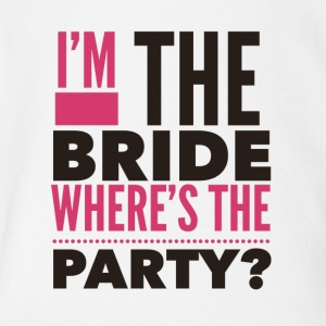 Im the bride where's the Party - Short Sleeve Baby Bodysuit