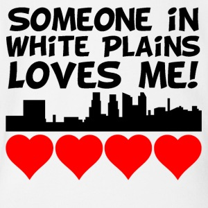 Someone In White Plains New York Loves Me - Short Sleeve Baby Bodysuit