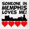 Someone In Memphis Tennessee Loves Me - Short Sleeve Baby Bodysuit
